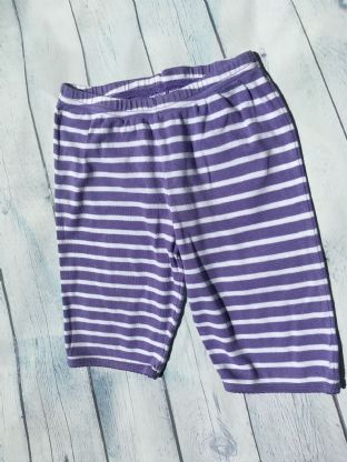 Mini Boden lilac and white striped shorts age 6-7